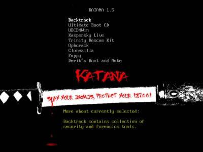 Katana v1.5 (Zatoichi) Multi-Boot Security Suite released - Security Database